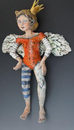 Bandita ceramic wall sculpture by ceramic artist Victoria Rose Martin