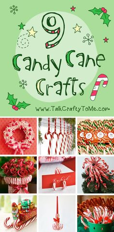 9 Candy Cane Crafts at www.TalkCraftyToMe.com