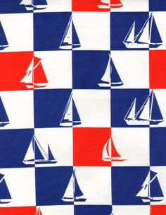 Sailboat Geo - cotton fabric from shop: Beyond Fabrics