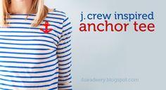 jcrew inspired anchor tee
