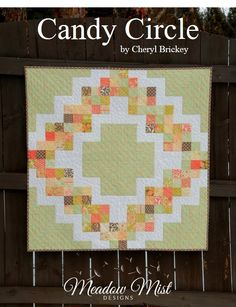 Candy Circle QuiltTutorial on the Moda Bake Shop. http://www.modabakeshop.com  Baby size 40 x 40