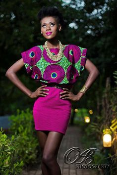 It's African inspired. african fashion, african inspir, color combos, dress, ankara styles, african prints, african fabric, african style, style fashion