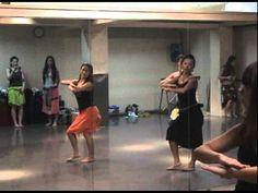 Tahitian Dance Class   Yoshiko    #Tahitian #Dance #Class #Dancing #Learning #Studio #Mirror #Yoshiko
