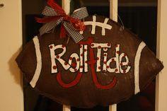 Alabama Roll tide burlap door hanger