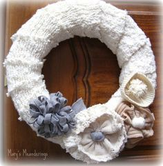 Wreath from old Sweaters- So many possibilities!!!