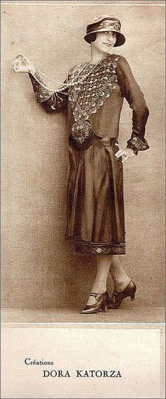 the 1920s-fashionable dress. @Deidra Brocké Wallace