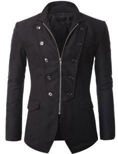 Mens Jacket Blazer with Zipper