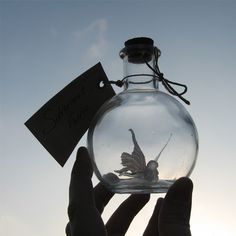 silhouette of Silvermist Faerie Bottle