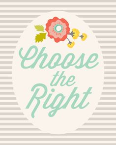 Choose the right printable