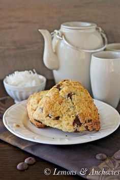 Chocolate Coconut Scones from @Jean Pope | Lemons & Anchovies #chocolateparty