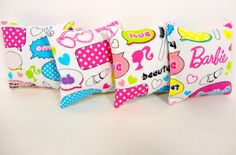 Barbie Dollhouse Miniature Pillows by ElleLaLaBoutique on Etsy