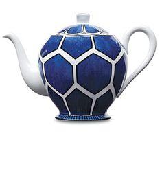 Hermes blue & white teapot