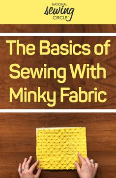 Sewing with minky fa