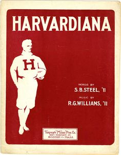 "1909 sheet music for ""Harvardiana"" #museumsuperbowl"