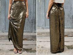 DIY sequin maxi skirt3 by apairandaspare, via Flickr