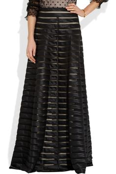 Temperley London | Satin and tulle maxi skirt | NET-A-PORTER.COM
