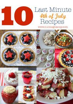 10 Last Minute Fourth of July Recipes by Nutmeg Nanny