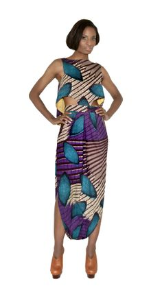 ABRUMI CAPE TOGA DRESS By Bestow Elan #AfricanFashion #AfricanPrint #Toga #Dress #Ankara #Print