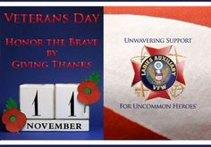 Monday, November 11th is Veterans Day! Thank our veterans for their service. Pin it in support!