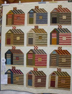 My Neighborhood, by Margaret Okuley. Patterned in Quiltmaker, Jan/Feb '12 issue. http://www.quiltandsewshop.com/category/s?keyword=quiltmaker+january+12