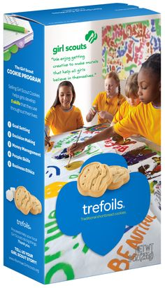 New Girl Scout Cookies -  Trefoils Box...