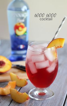 Excited to share this awesome peach and cranberry cocktail with you today… my simple variation of a Woo Woo Cocktail! #pinnaclevodka
