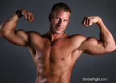 hot mitch colby flexing muscles