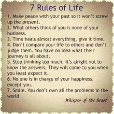 Positive Inspirational Quotes: 7 Rules of Life