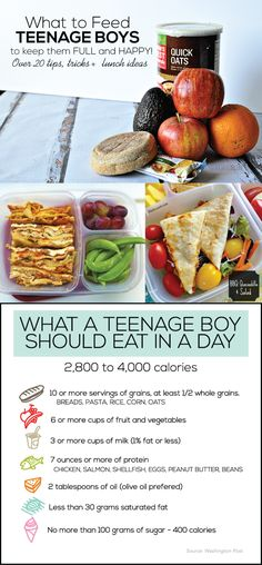 What to Feed Teenage Boys to Keep Them Full and Happy - 20+ tips, tricks and lunch ideas!