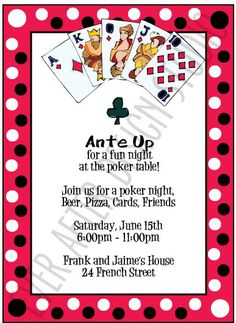 Images About Poker Night Parties On Pinterest Poker Night Poker And Party Invitations