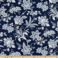 Waverly Barano Indigo from @fabricdotcom  Screen printed on cotton duck; this versatile, medium weight fabric is perfect for window accents (draperies, valances, curtains and swags), accent pillows, duvet covers,  upholstery and other home decor accents. Colors include sand, white/ivory, medium blue and indigo.