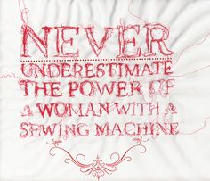 ...a woman with a sewing machine