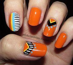 Tribal Nail Tutorial - Inspired by SuPa Nails