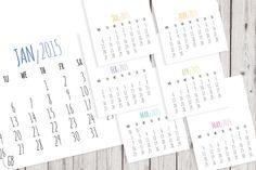 2015 calendar, DIY template by GrafikBoutique on Creative Market