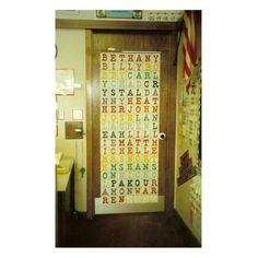 Welcome Back to School Classroom Door Decoration or Bulletin Board Idea