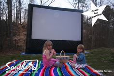 backyard movi, backyard parties, kid parties, movi screen, movi parti