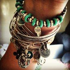 Alex and Ani bracelet. Just got one! Simple and beautiful. It looks fantastic with my Pandora bracelet.