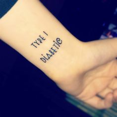 My Type 1 Diabetic medical alert tattoo.
