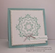 Daydream Medallion Wreaths For Christmas #stampinup