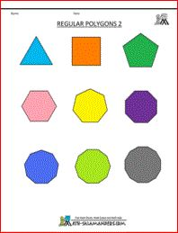 Regular Polygons unlabelled