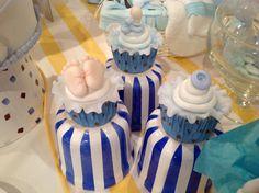 Baldes de porcelana pintados a mano por AnimArteDeco Baby Shower