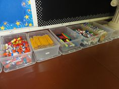 Good idea for when students bring in their school supplies.