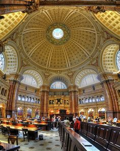 amazing reading room at the library of congress