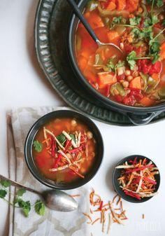 Vegetable and Chickpea Moroccan Stew | Pure Ella | www.pureella.com #vegan #vegetarian #glutenfree