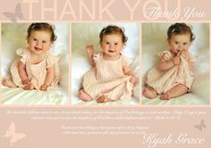 Butterfly Baptism Thank you note