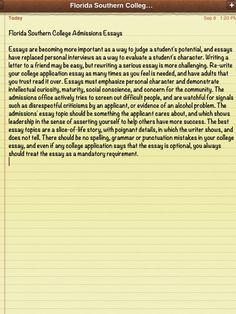 florida college essay prompts
