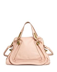 Chloe Paraty Medium Shoulder Bag, Pink - Neiman Marcus