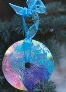 kids christmas crafts, fun kid, cd crafts, christma idea, christma craft