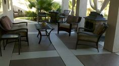 After painting patio floor