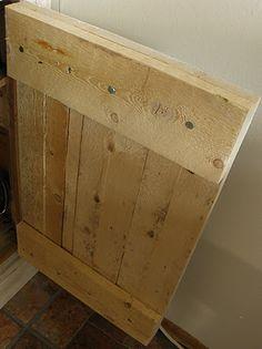 Pallet cabinet door